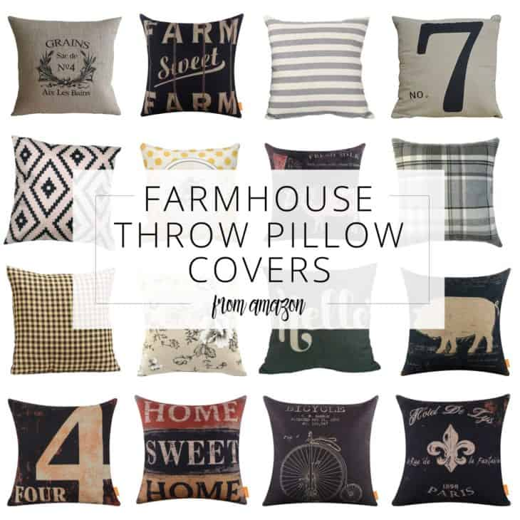 Farmhouse Throw Pillow Covers from Amazon pin