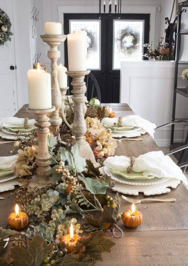 Neutral Farmhouse Fall Table – Our First Fall Table at This House!