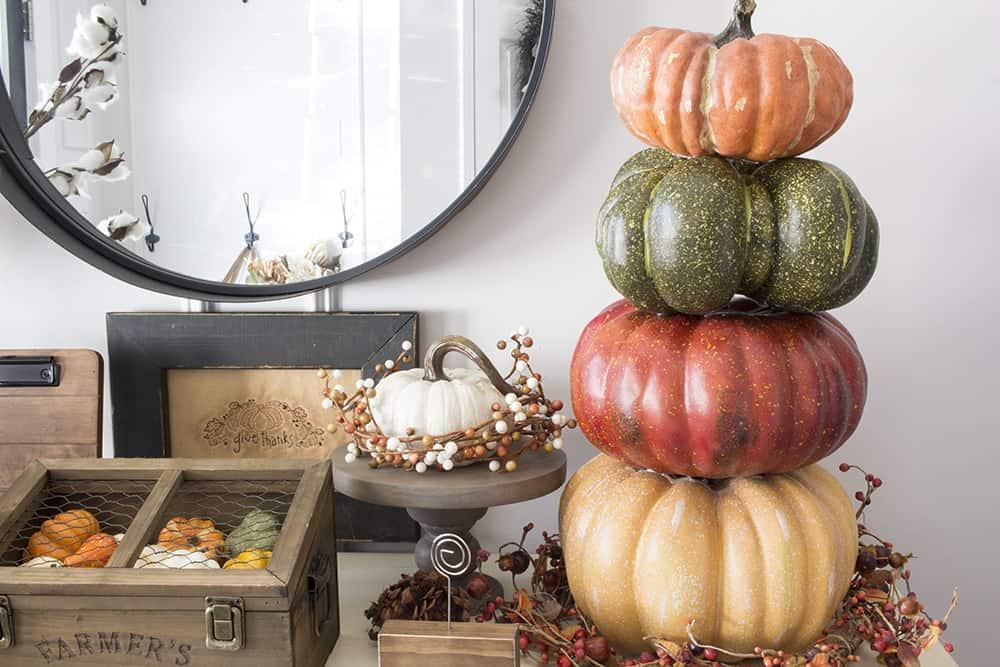 fall pumpkin stack