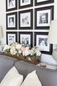 family photo grid wall