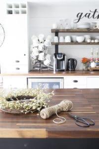 farmhouse kitchen fall