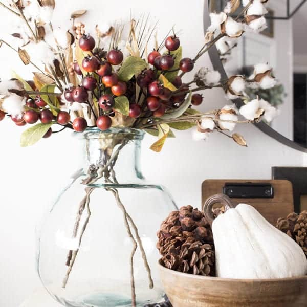 farmhouse style fall centerpiece