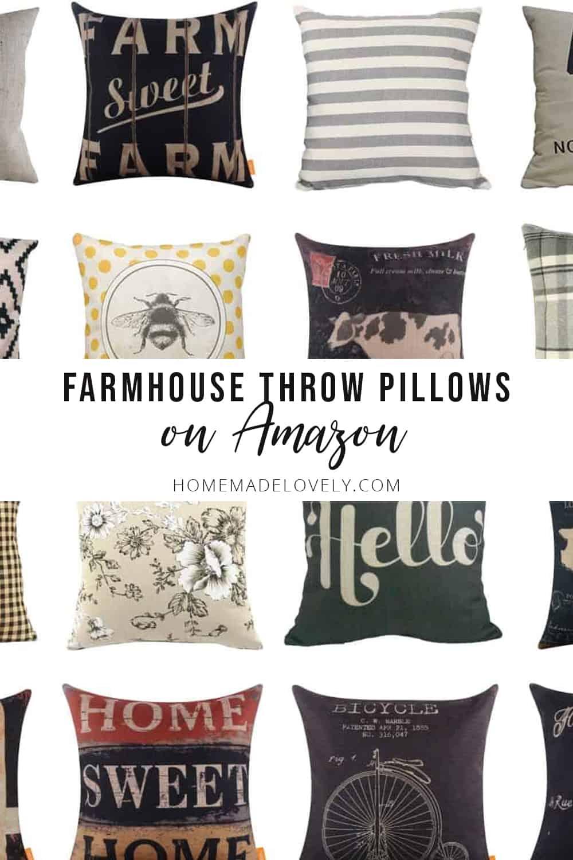 farmhouse throw pillows on amazon
