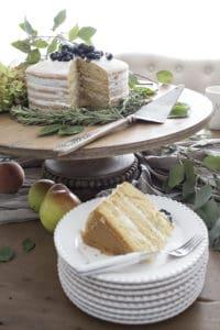 fall naked cake