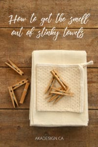 how to get the smell out of stinky towels