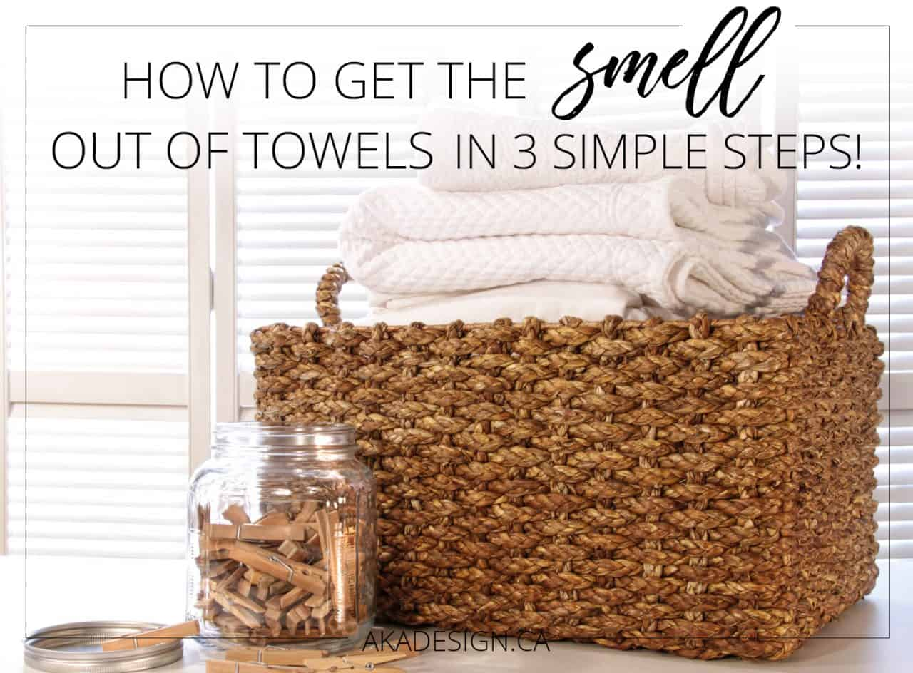 how to get the smell out of towels in 3 simple steps