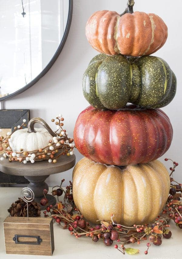 How to Make a Stacked Pumpkin Topiary the Easy Way!