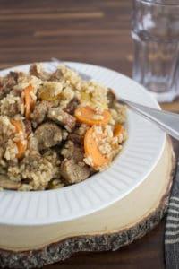 rustic sausage paella