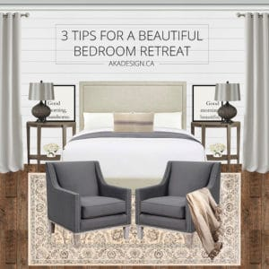 3 tips for a beautiful bedroom retreat pin