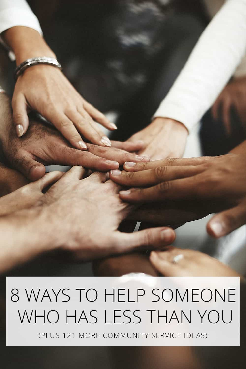 help someone who has less than you