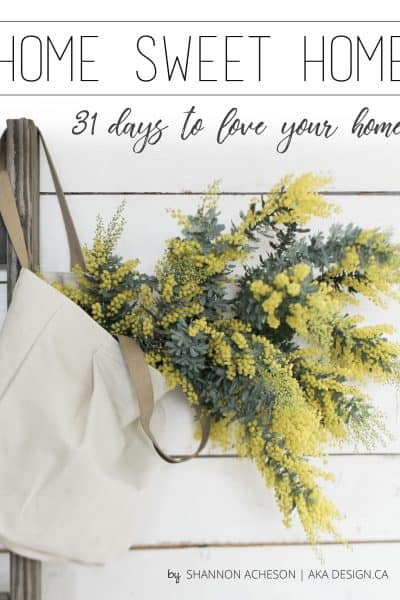 home sweet home 31 days to love your home