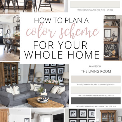 31 Days to Love Your Home | Day 16 – Whole Home Color Scheme