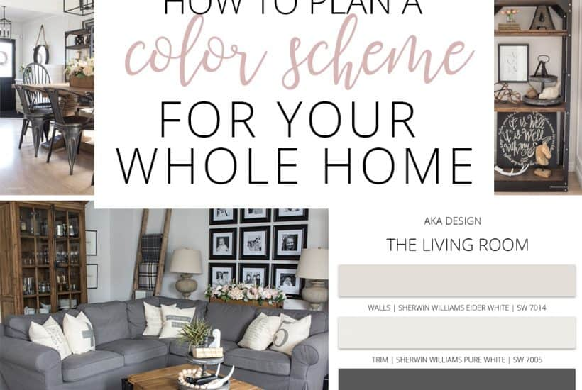 how to plan a color scheme for your whole home