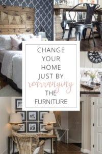 rearrange the furniture