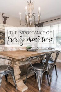 the importance of family meal time