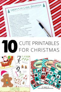 10 Cute Printables for Christmas