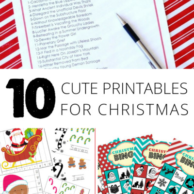 10 Cute Printables for Christmas – Cards, Bingo, Coloring Pages & More!