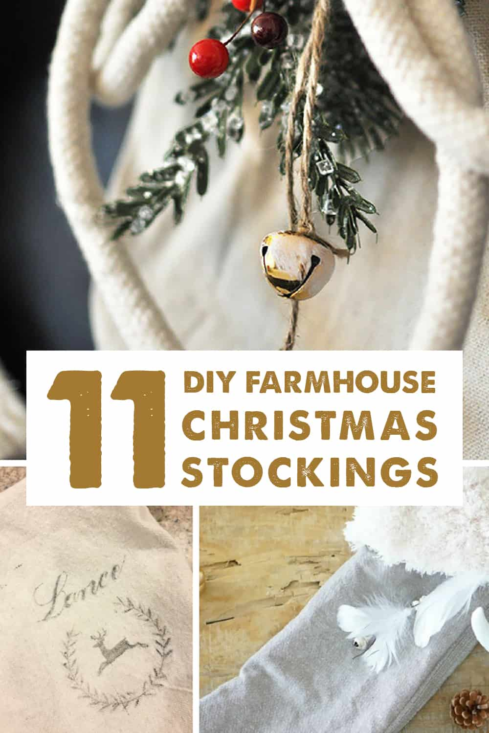 11 DIY Farmhouse Christmas Stockings