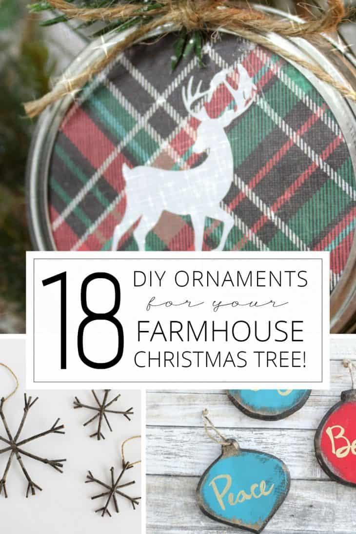 18 DIY Ornaments for your farmhouse Christmas tree