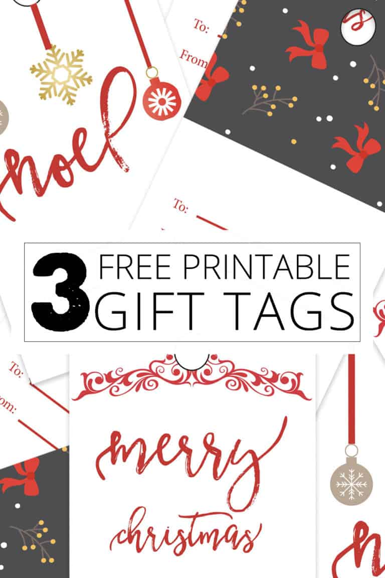 Christmas Gift Tags (3 Styles)