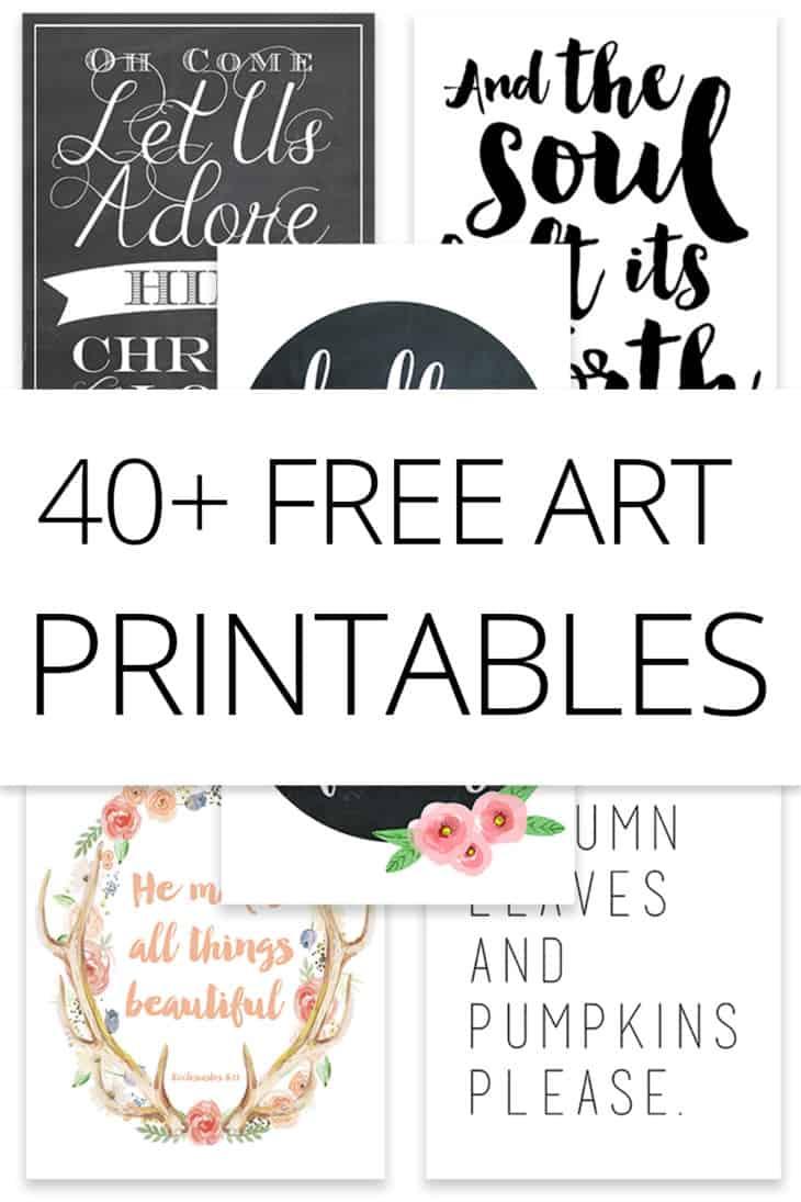 40+ free art printables