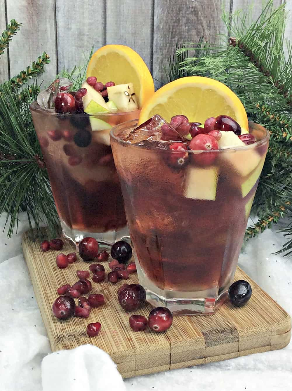 Apple Orange Cranberry Holiday Sangria 2