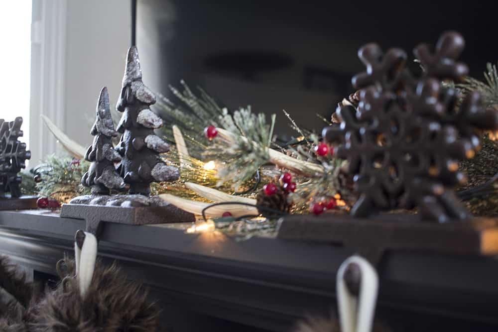 Christmas mantel detail