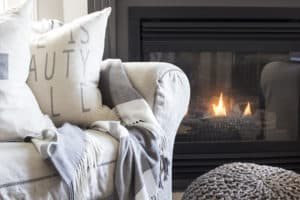 Cozy chair by the fire