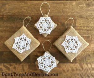 Duct Tape and Denim finished-diy-christmas-doilie-ornaments