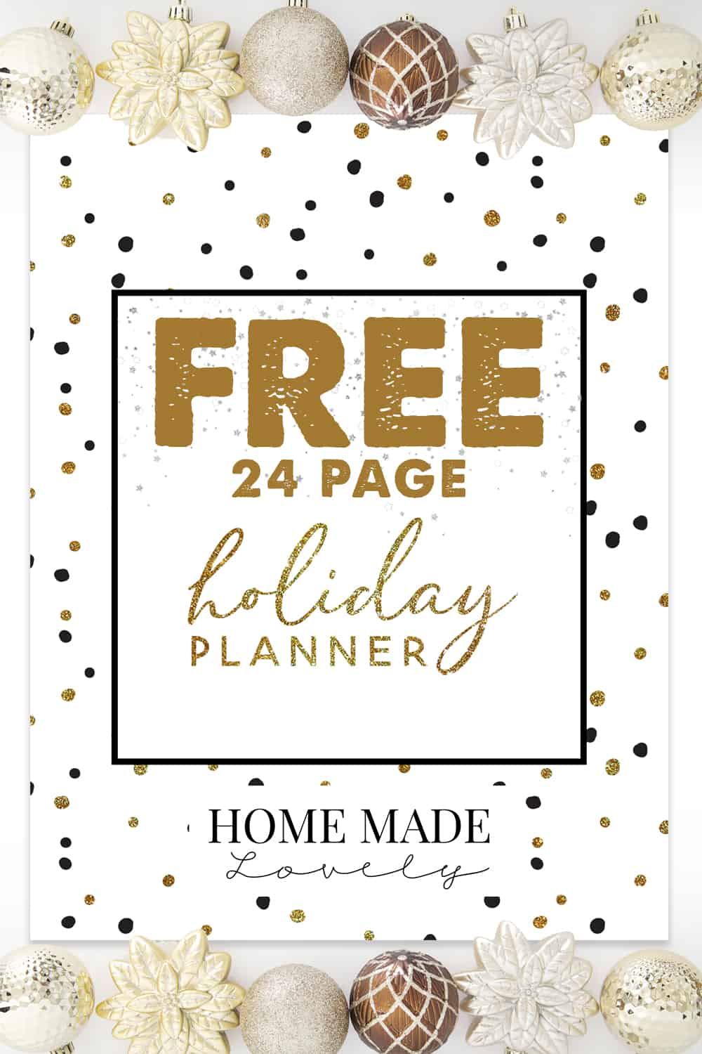 FREE Holiday Planner Pack from Home Made Lovely