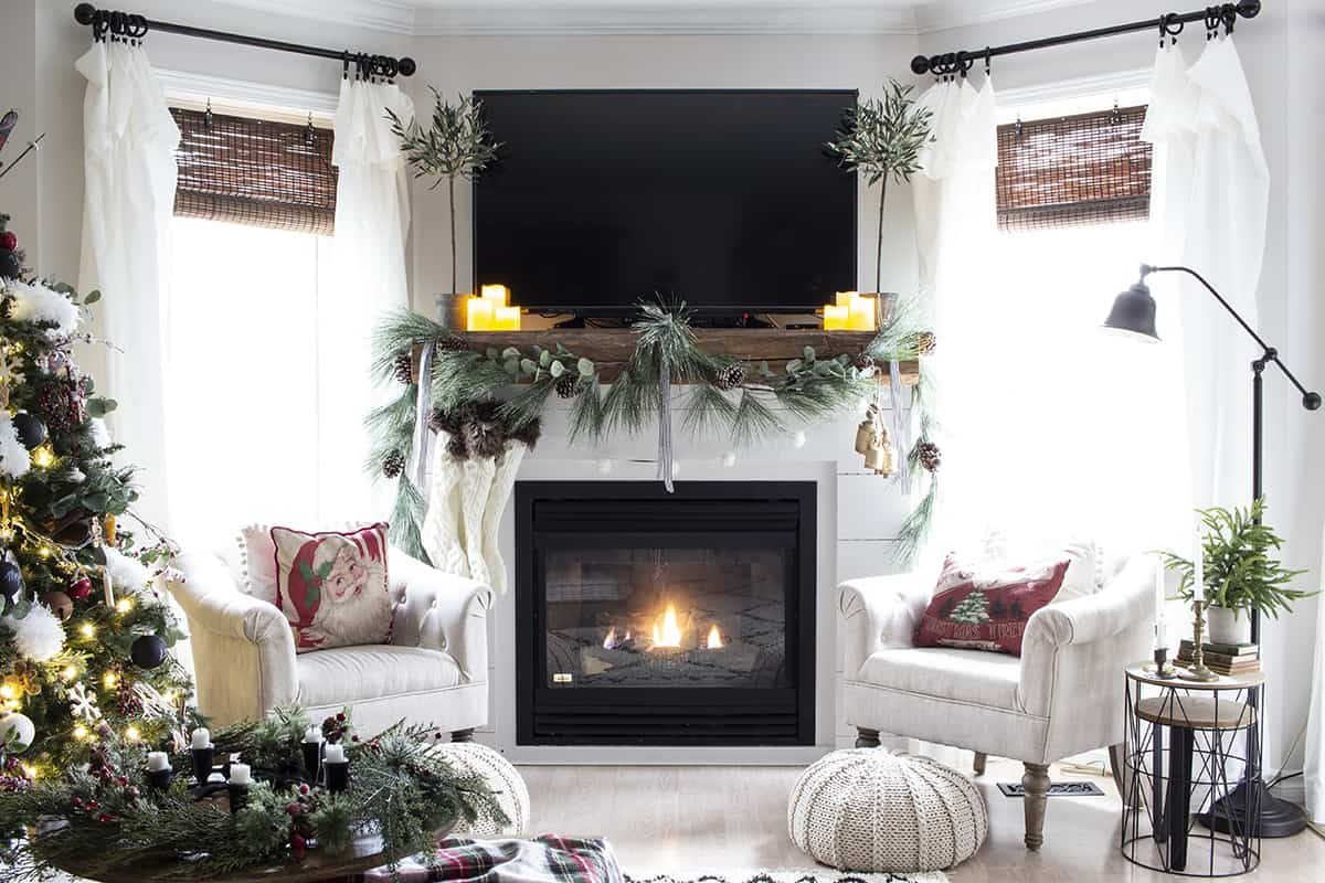Shannon Home Made Lovely 2020 Xmas Mantel