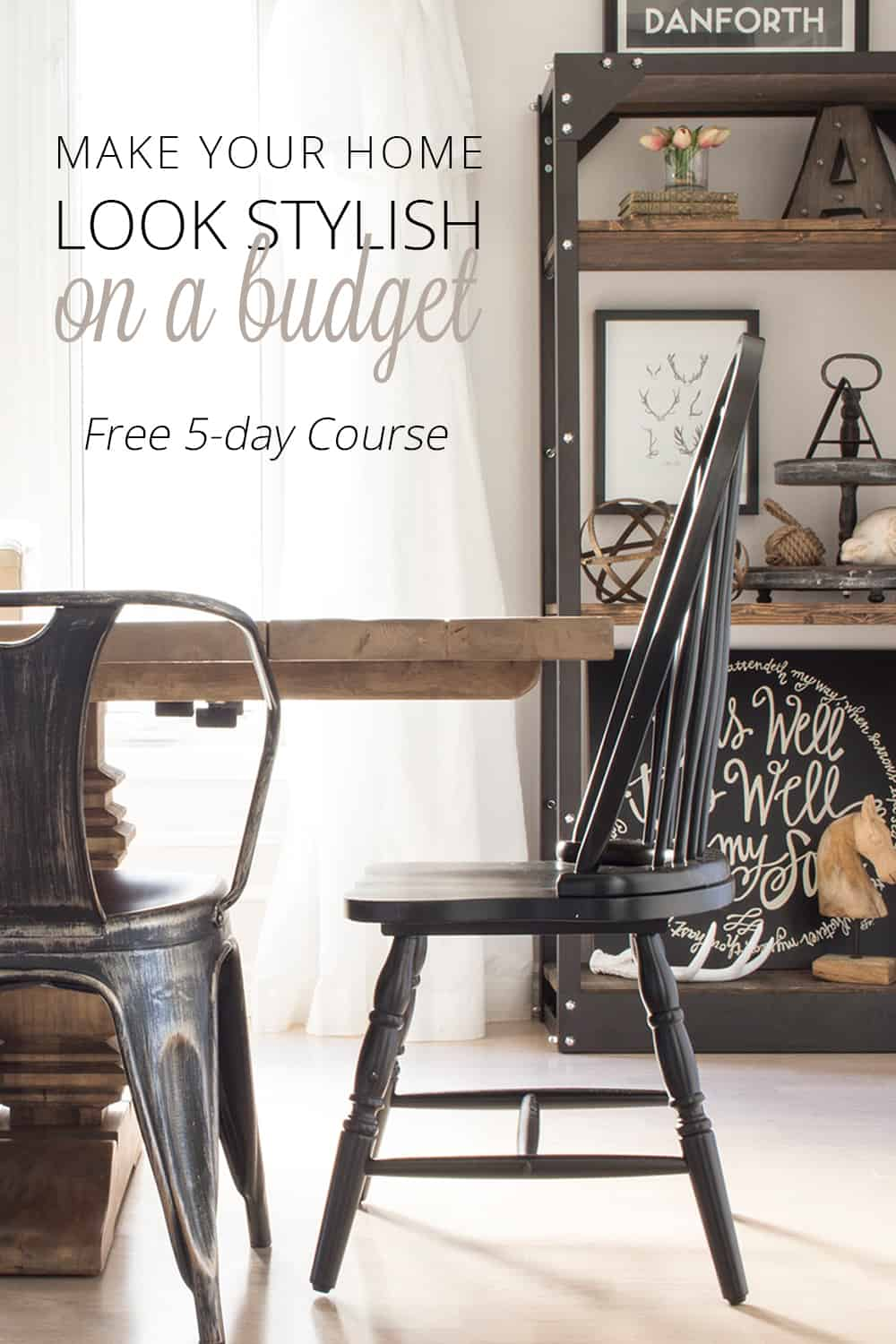 Budget Decorating Free 5 Day Email Course