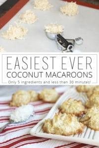 easiest ever coconut macaroons