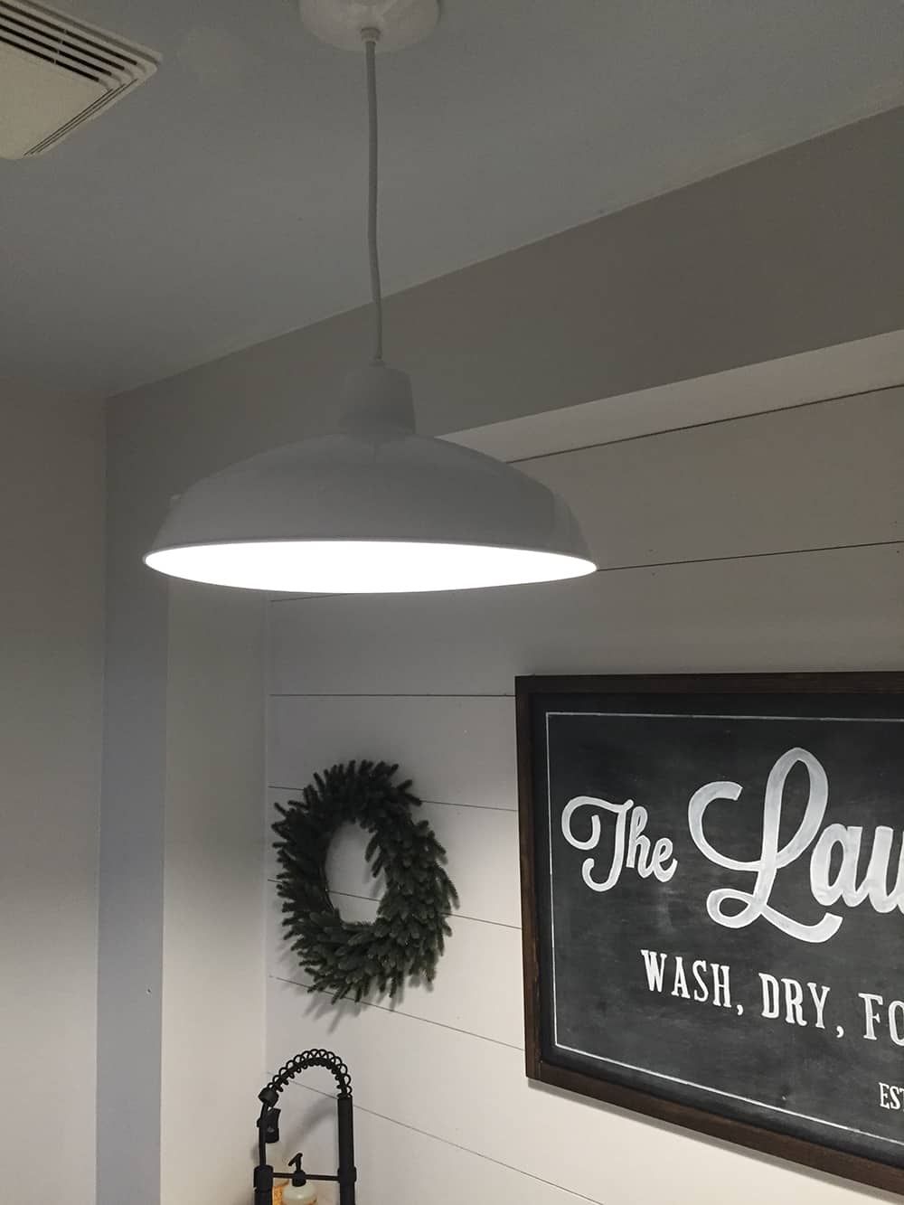 farmhouse laundry room light