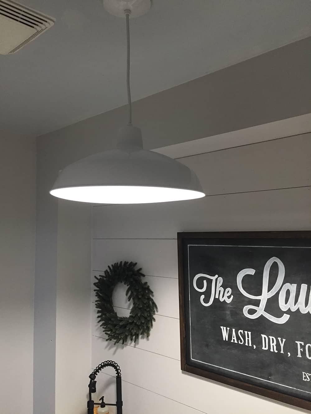 Farmhouse Laundry Room Light