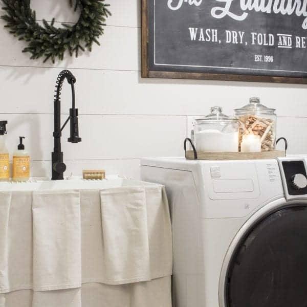 farmhouse laundry room makeover