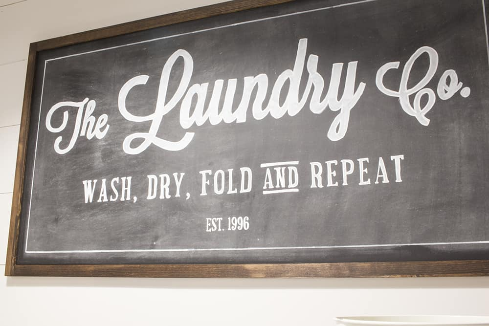 the laundry co DIY sign