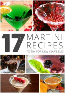 17 martini recipes to try for new year's eve