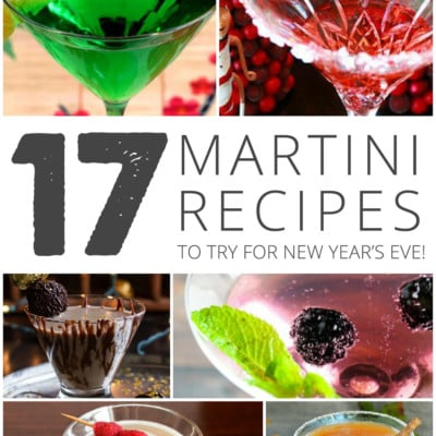 17 Yummy Martini Recipes to Try for New Year's Eve!