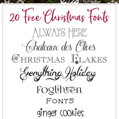 My Favorite Free Christmas Fonts – Perfect for Printables, Signs & Cards
