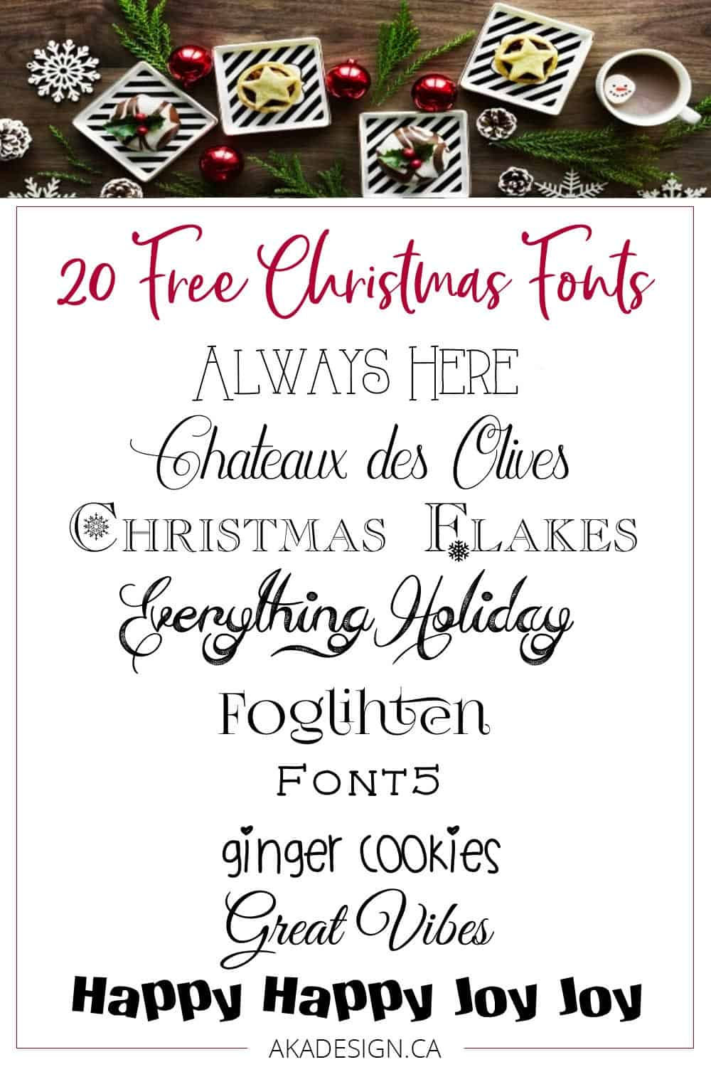 my favorite free christmas fonts perfect for printables signs cards - Christmas Fonts Free