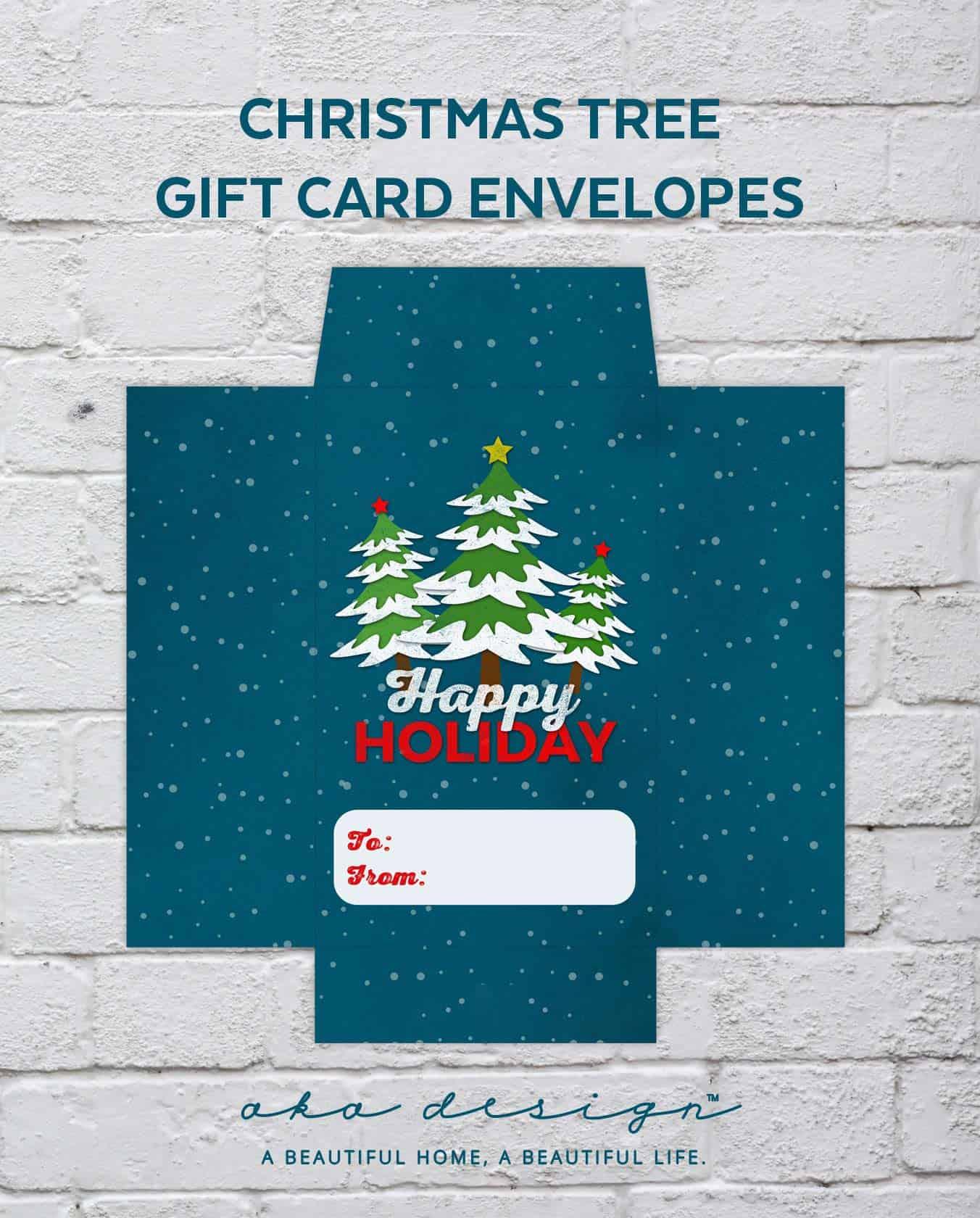 gift card holder printable