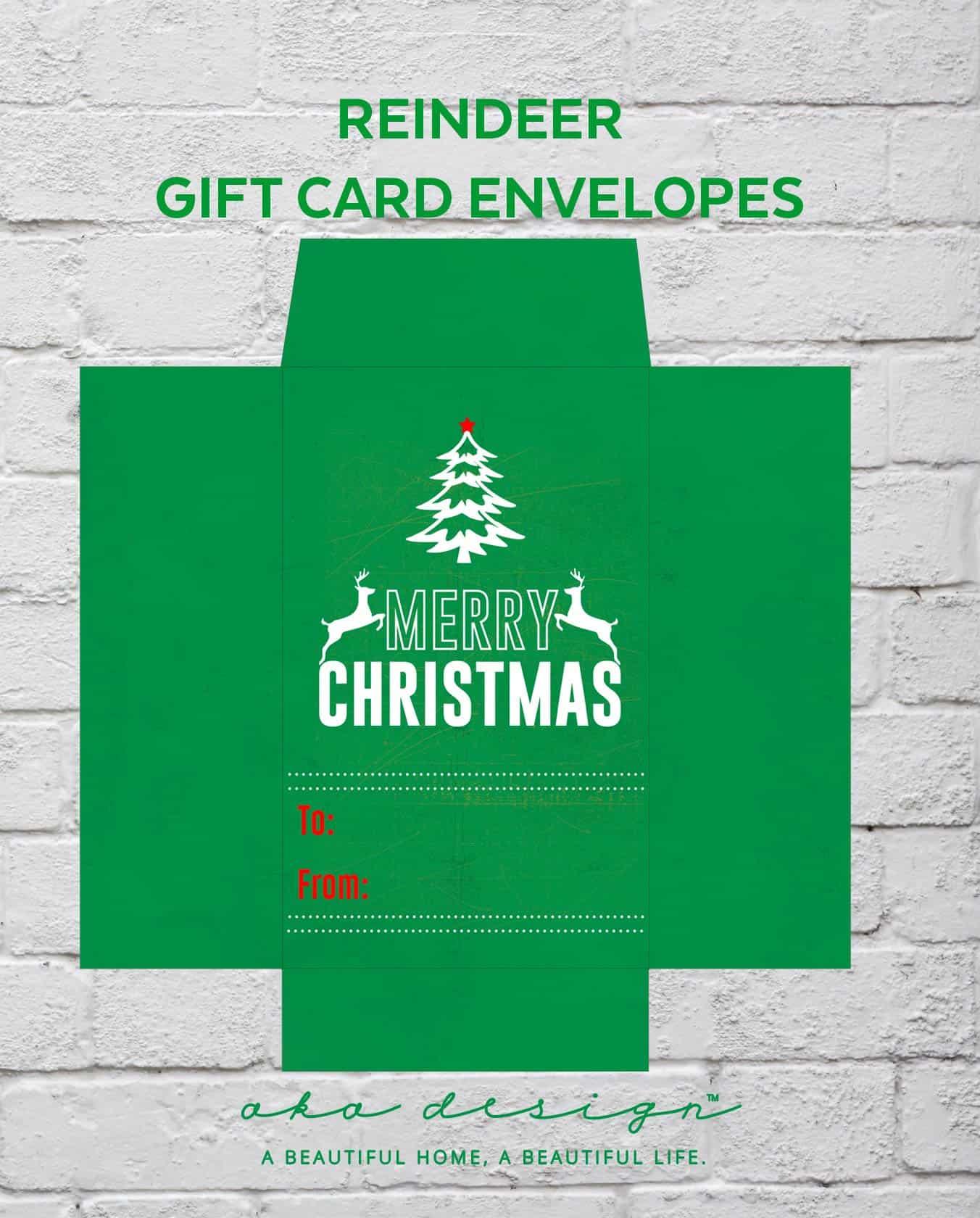 free printable christmas gift card envelopes  family