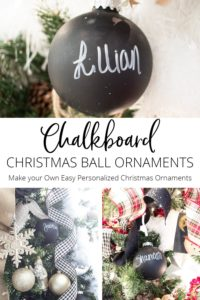 Chalkboard Christmas Ball Ornaments