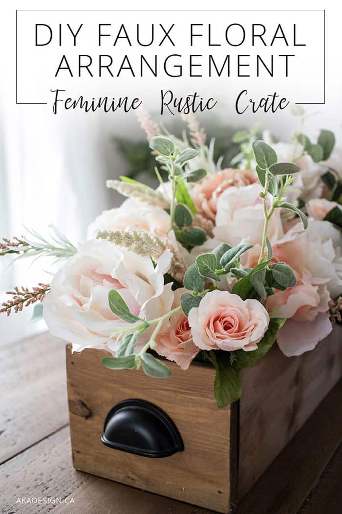 DIY Faux Floral Arrangement
