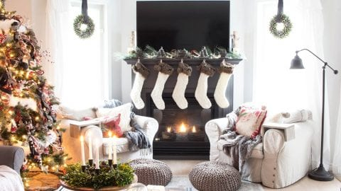 A Nostalgic Farmhouse Style Christmas in the Canadian Suburbs