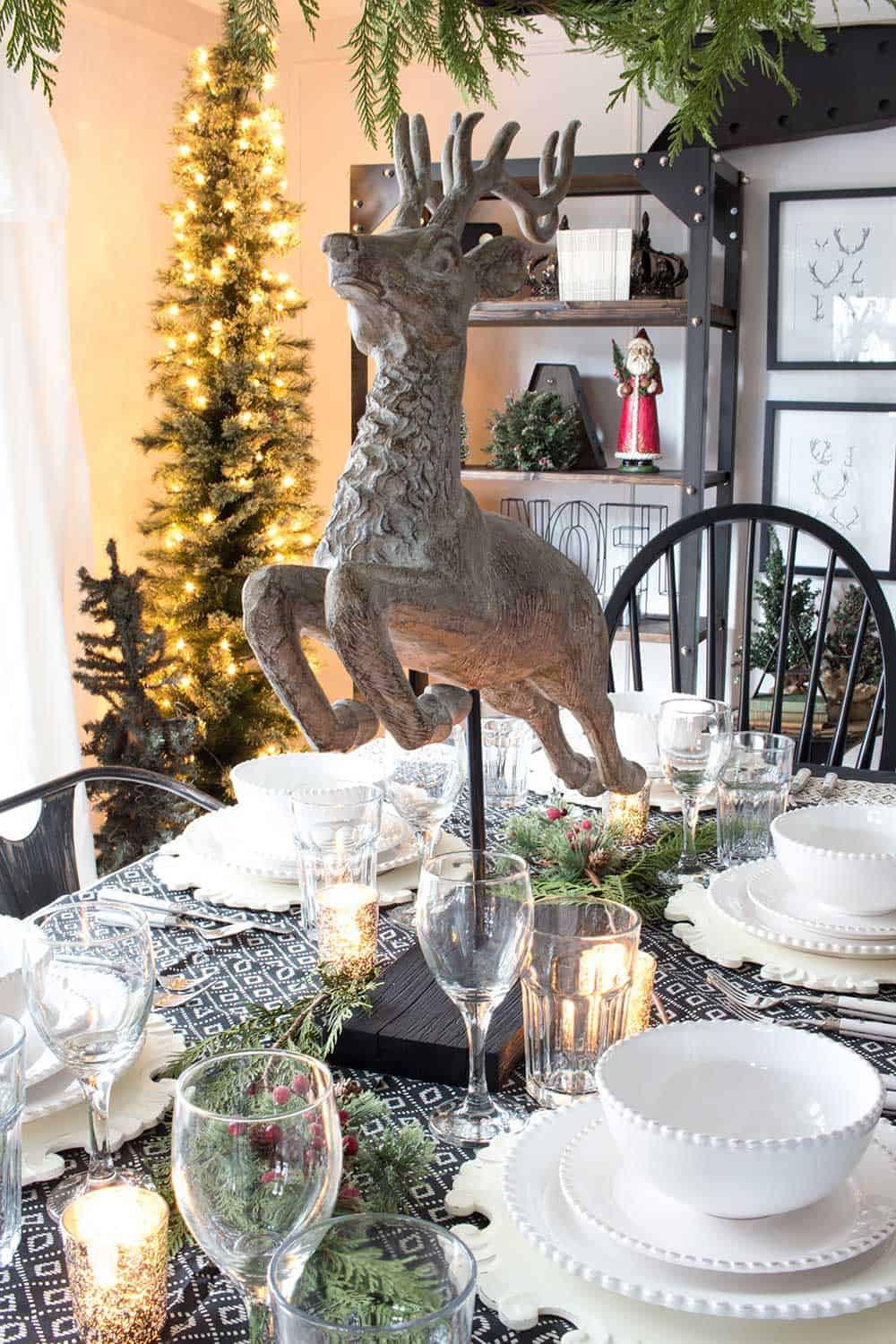 Our Farmhouse Christmas Table + 5 More Farmhouse Holiday Table Ideas