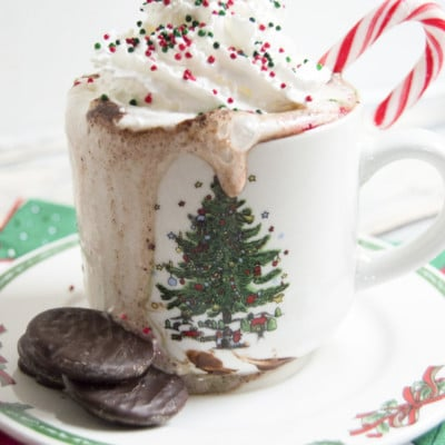 Thin Mint Hot Chocolate to Snuggle Up With on a Cold, Winter's Day