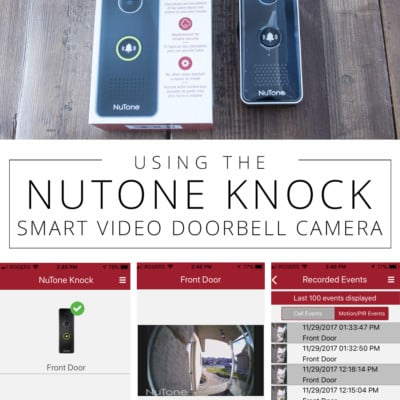 Our Experience Using the NuTone KNOCK Smart Video Doorbell Camera