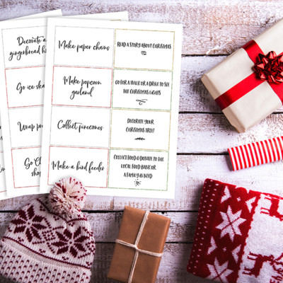 Family Holiday Advent Calendar Activity Cards
